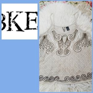 BKE BEADED SPAGHETTI STRAP TANK TOP!